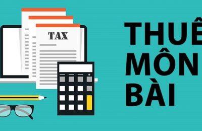 Thuế môn bài trong tiếng anh là gì